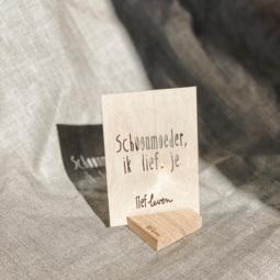 Houten kaartje • Schoonmoeder