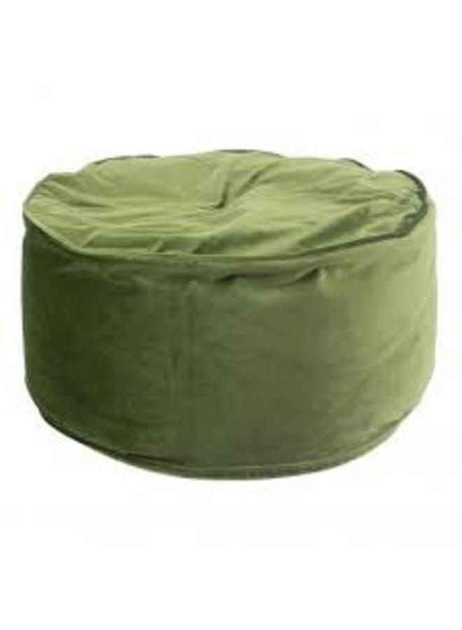 Poef Zitkussen Fluweel groen