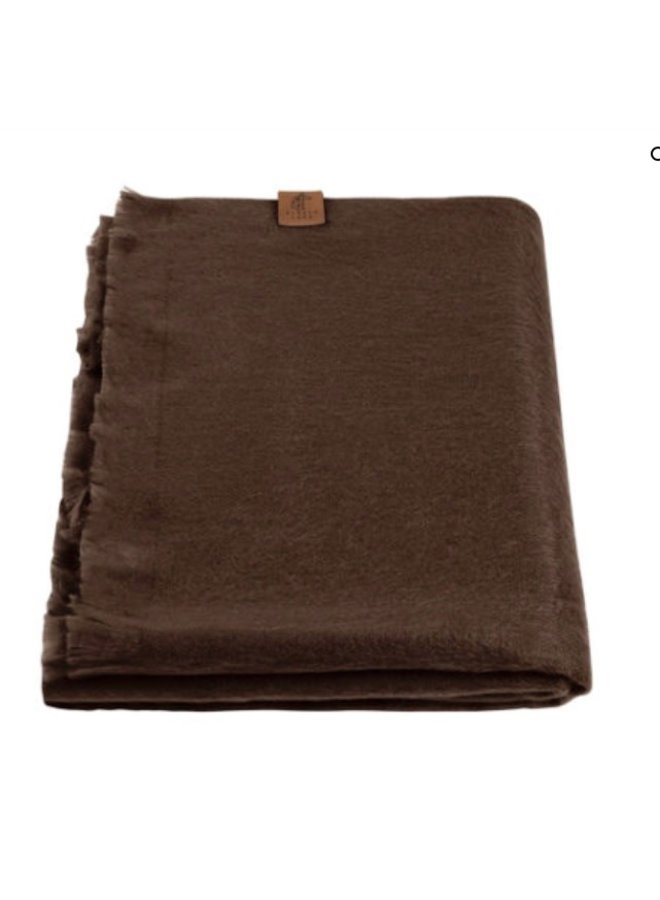 Enkel geweven shawl - Alpaca
