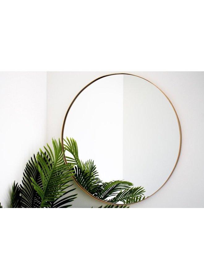 HV Round mirror 80 cm. gold