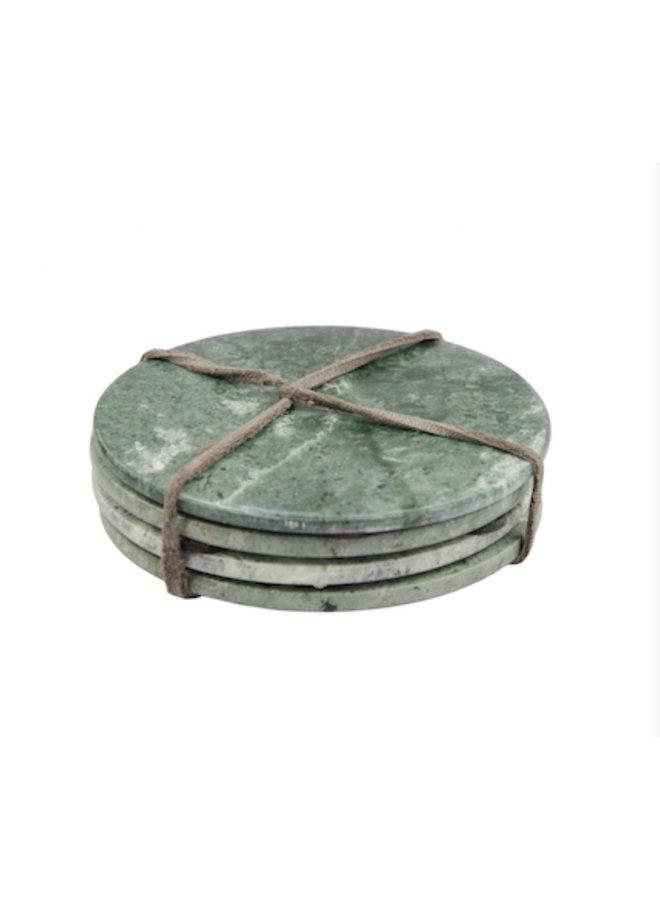 Marble Coasters (set van 4) -  groen