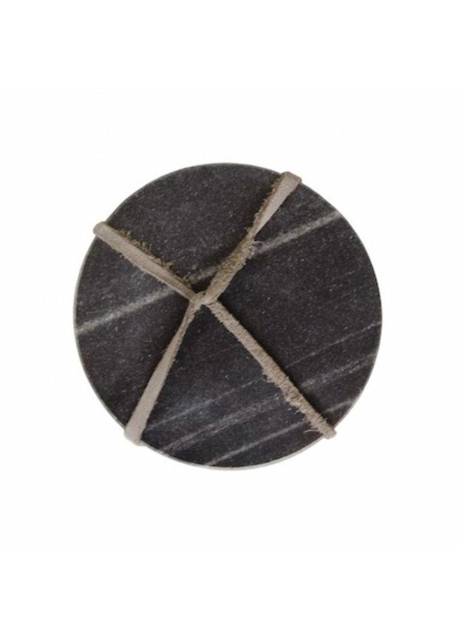 Marble Coasters (set van 4) -  zwart