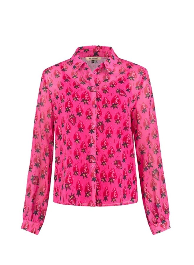 Blouse Strawberry Pink