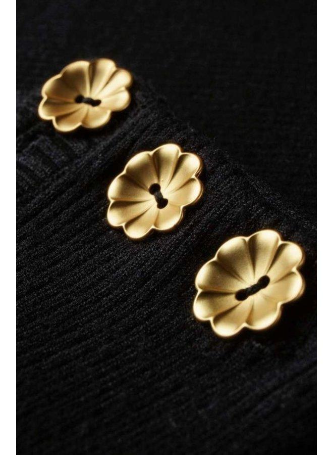 Lillian Short Sleeve Pullover - Black - Fabienne Chapot