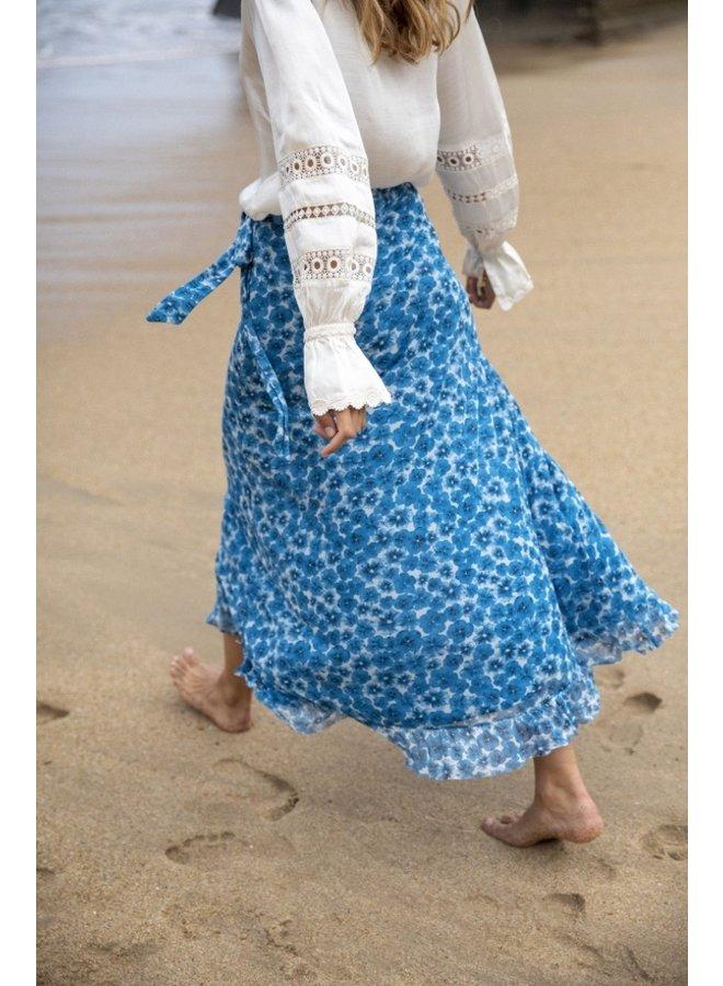 Bobo Frill Skirt Cream White/ Artisan Fancy Pansy