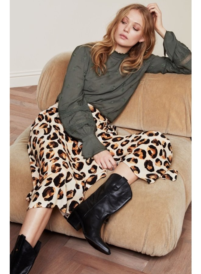 Bobo Skirt Oatmeal/ Chocolate Br Panther Love - Fabienne Chapot