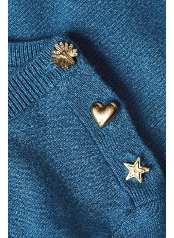Molly Short Sleeve Pullover - Artisan Blue