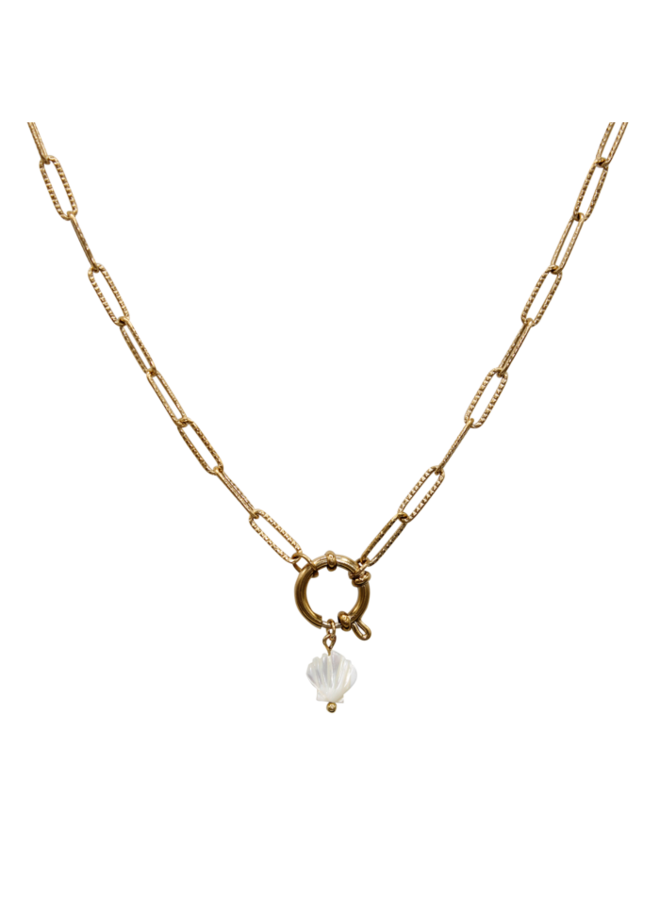Statement necklace shell MOP - A la collection