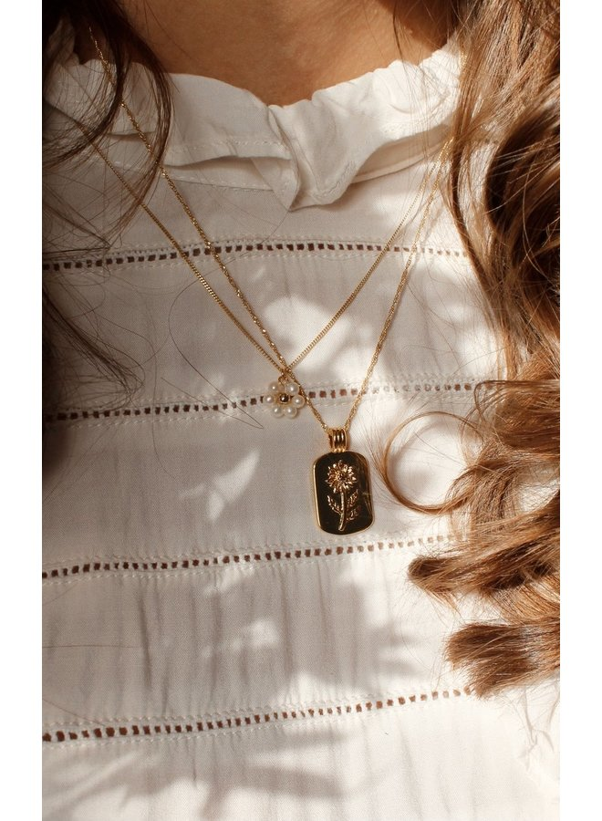 Daisy freshwater pearl necklace - A la Collection