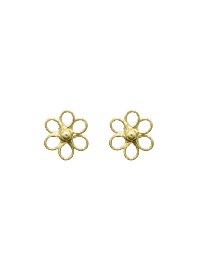 Flower Pin Pair of Earrings- medium - A La Collection