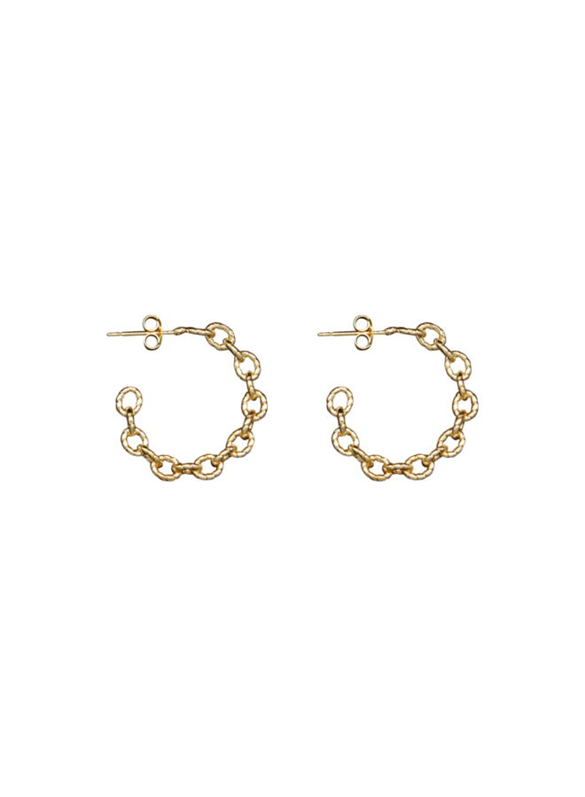 Big Half Moon Chain pair of earrings - A la Collection