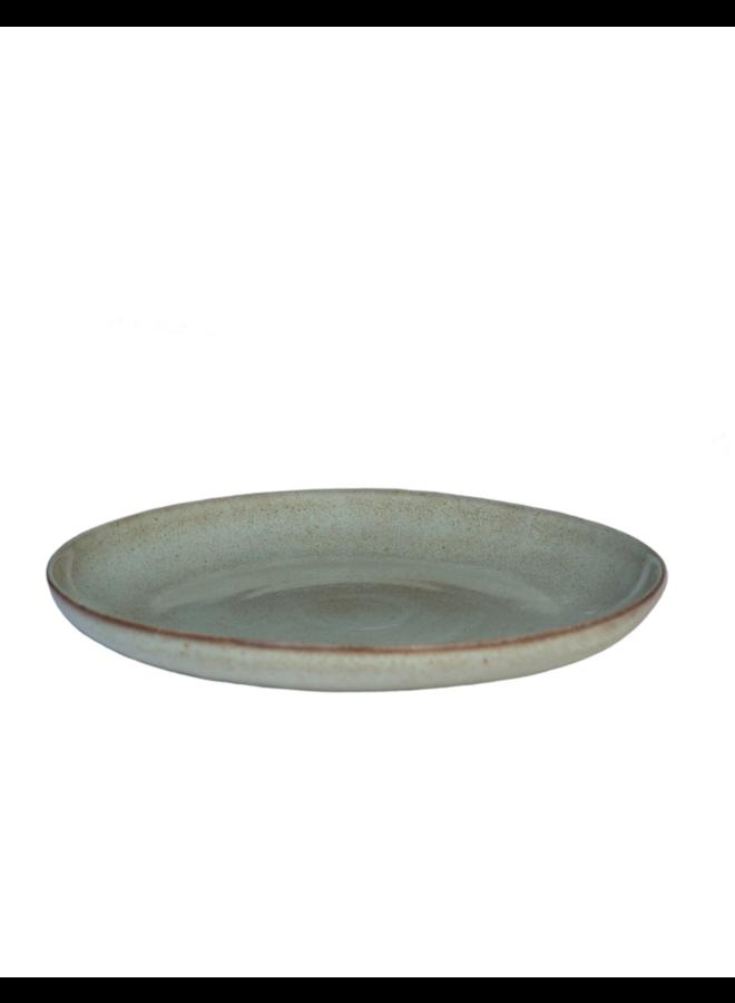 Schaal rond, 35 cm. Stone - Zeegroen