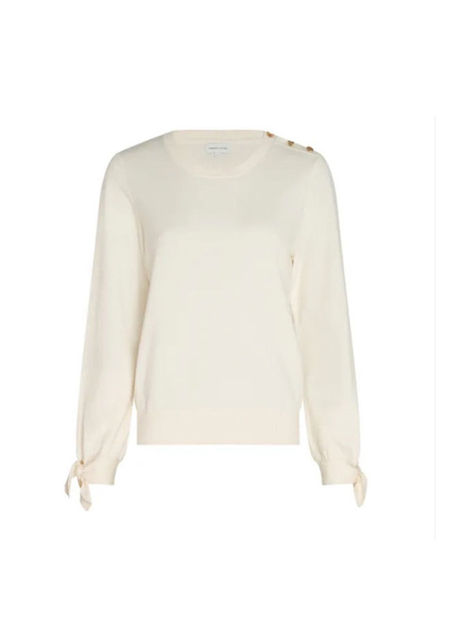 Molly Bow Pullover - Creme White  M