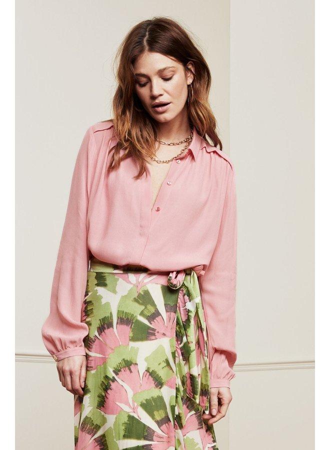 Sunrise Solid Blouse - Trippy Pink   Fabienne Chapot