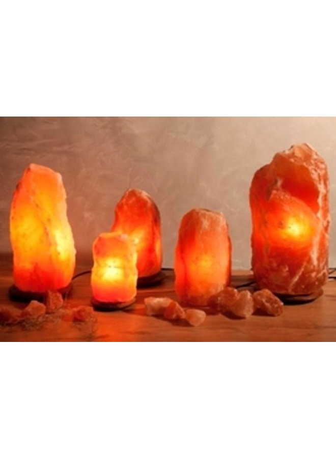 Himalaya Salt Dreams Lamp Himalaya Zout Siliconen Dopjes - 19 Cm Hoog - Oranje