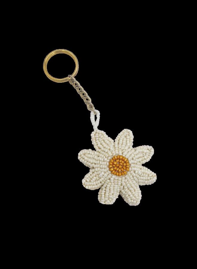 Beaded Daisy Keychain - A la Collection