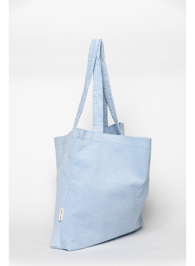 Baby blue rib mom-bag- Studio Noos