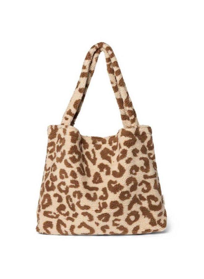 Teddy leopard ecru mom-bag- Studio Noos