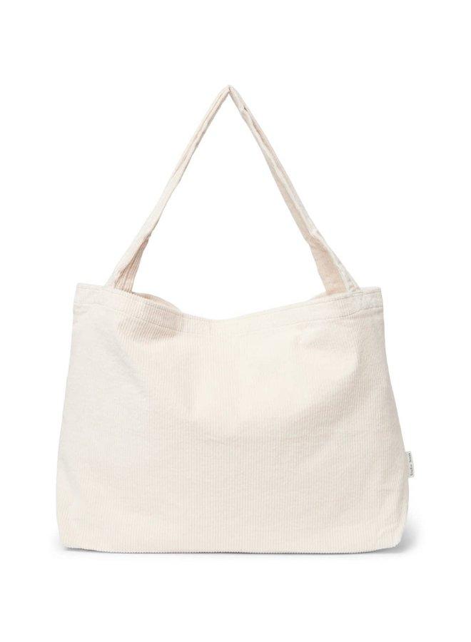 Old white rib mom-bag - Studio Noos