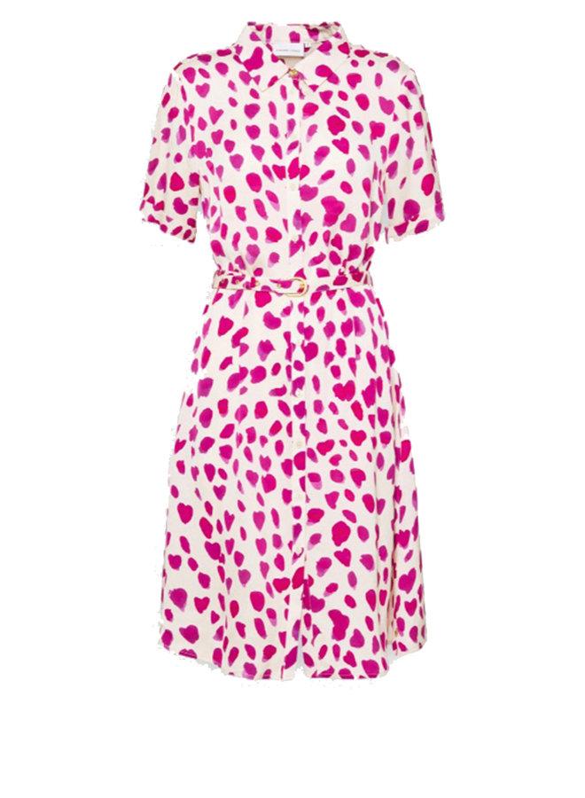 Mila Dress -Cream White/Cherry R - Fabienne Chapot