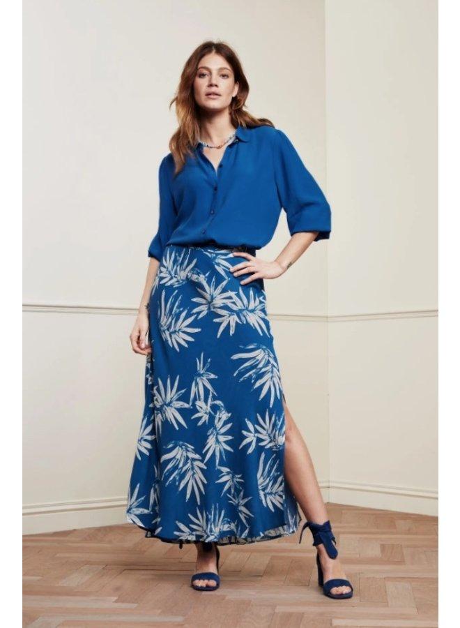Sina Skirt Artisan Blue Palm Spring Break - Fabienne Chapot