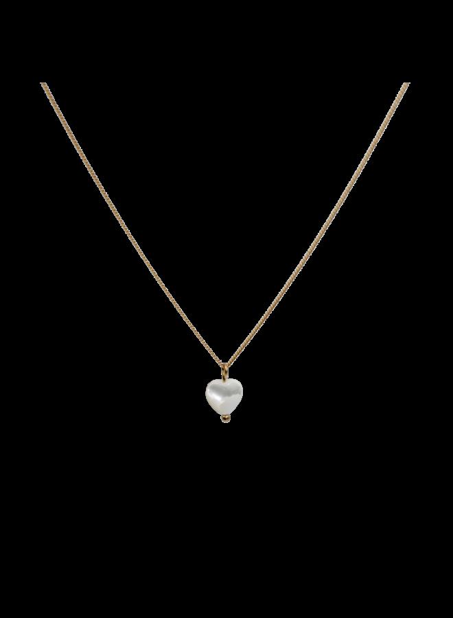Heart MOP necklace - A la Collection