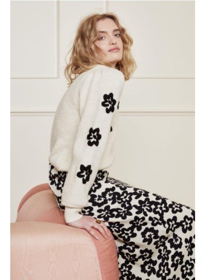 Fenny Pullover Cream White/ Black - Fabienne Chapot