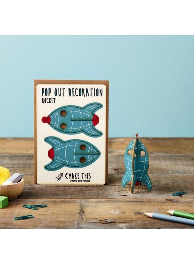 Pop Out Card - 100% gerecycled PEFC