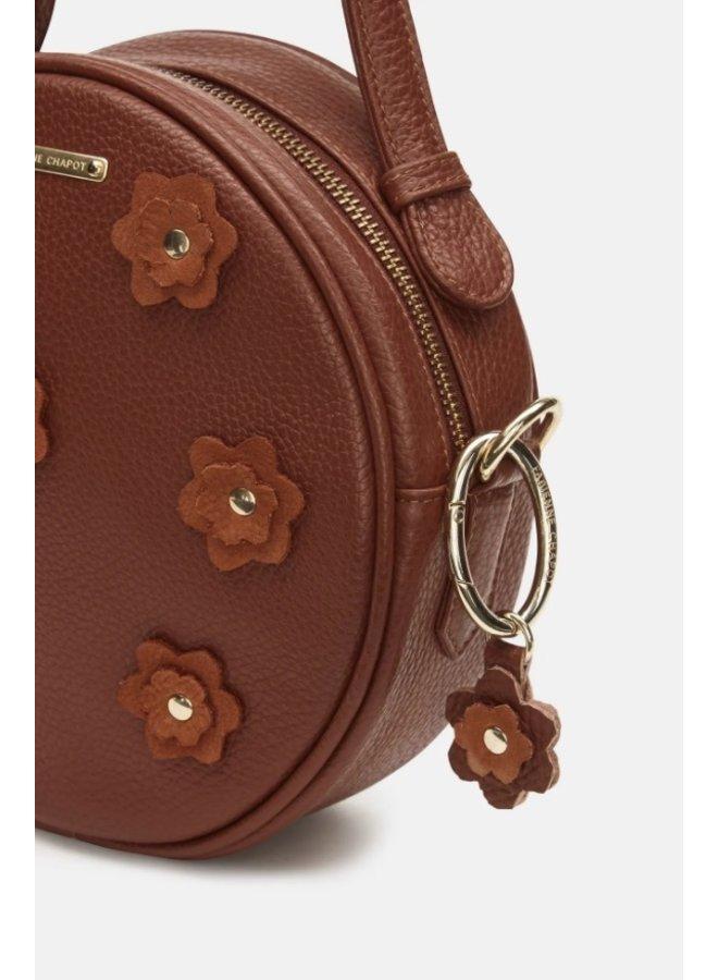 Roundy Bag Flower Cognac - Fabienne Chapot - SALE