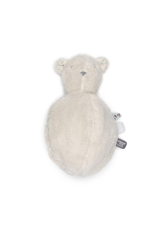 Organic Bobby Bear - Stone Beige/ White