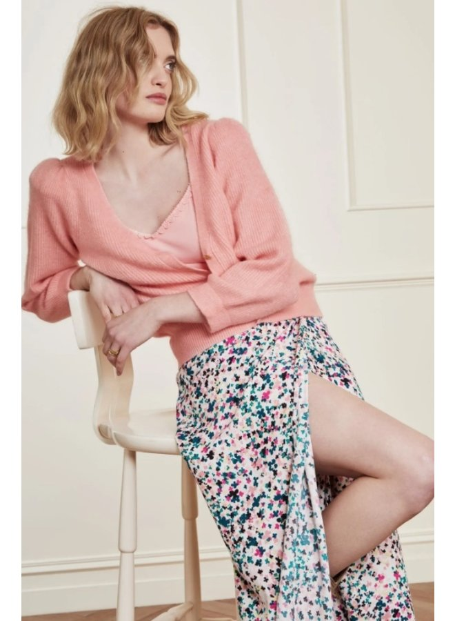 Sally Cardigan 3/4 sleeve Lovely Pink - Fabienne Chapot