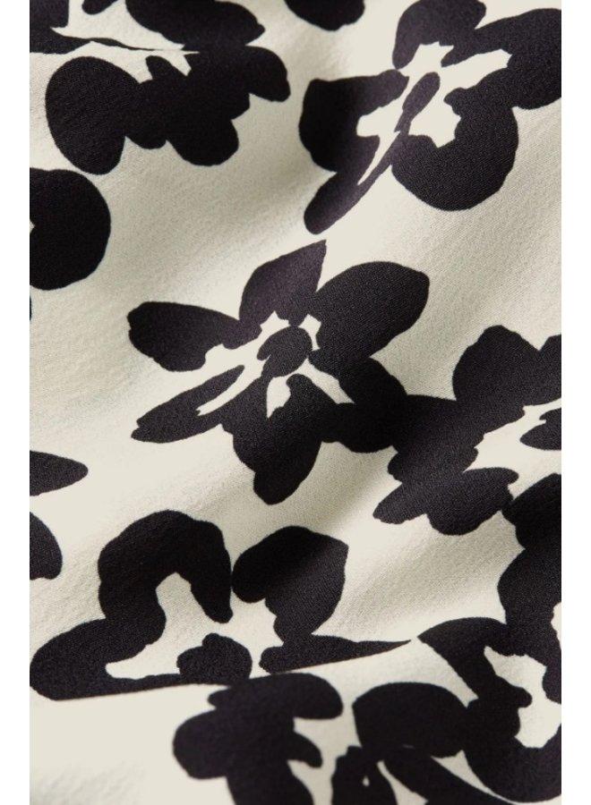 Laurie Skirt Cream White/ Black Fleopard - Fabienne Chapot