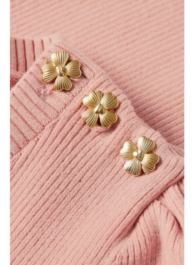 Lillian Short Sleeve Pullover Lovely Pink - Fabienne Chapot