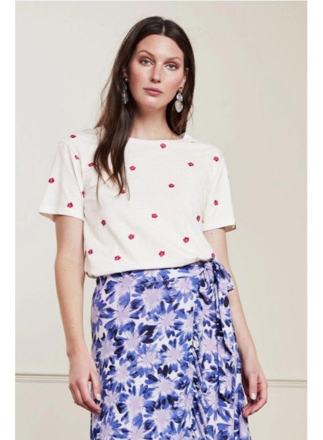 Phil Flower T-Shirt Cream White - Fabienne Chapot - SALE