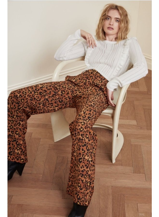 Puck Trousers Cognac/Black Minipatra - Fabienne Chapot