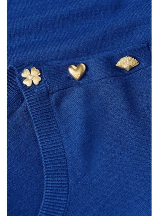 Molly Bow Pullover Cobalt - Fabienne Chapot