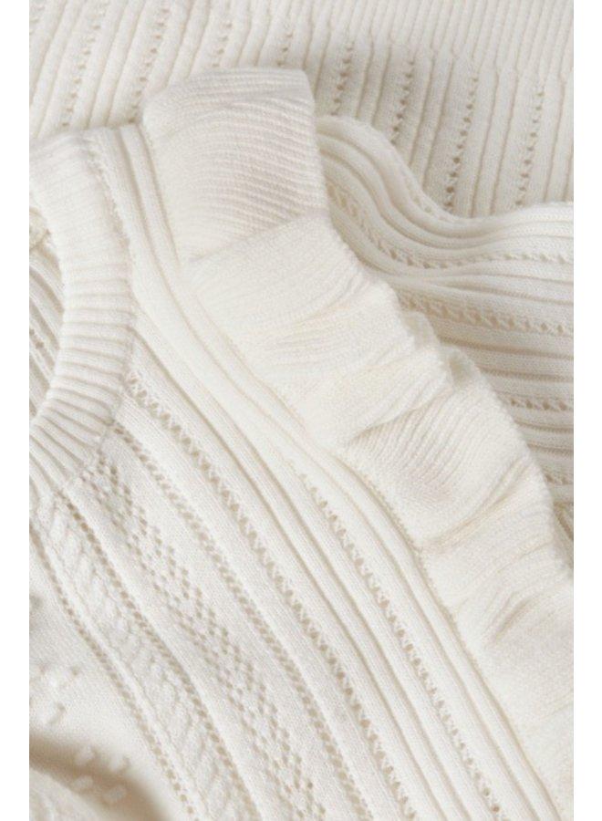 Liza Frill Pullover Cream White - Fabienne Chapot