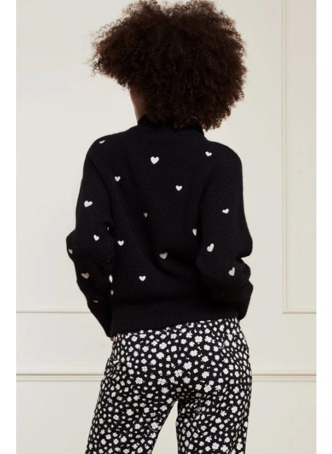 Oliviana Pullover Black/Cream White - Fabienne Chapot