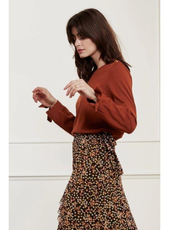 Molly Bow Pullover Cognac - Fabienne Chapot