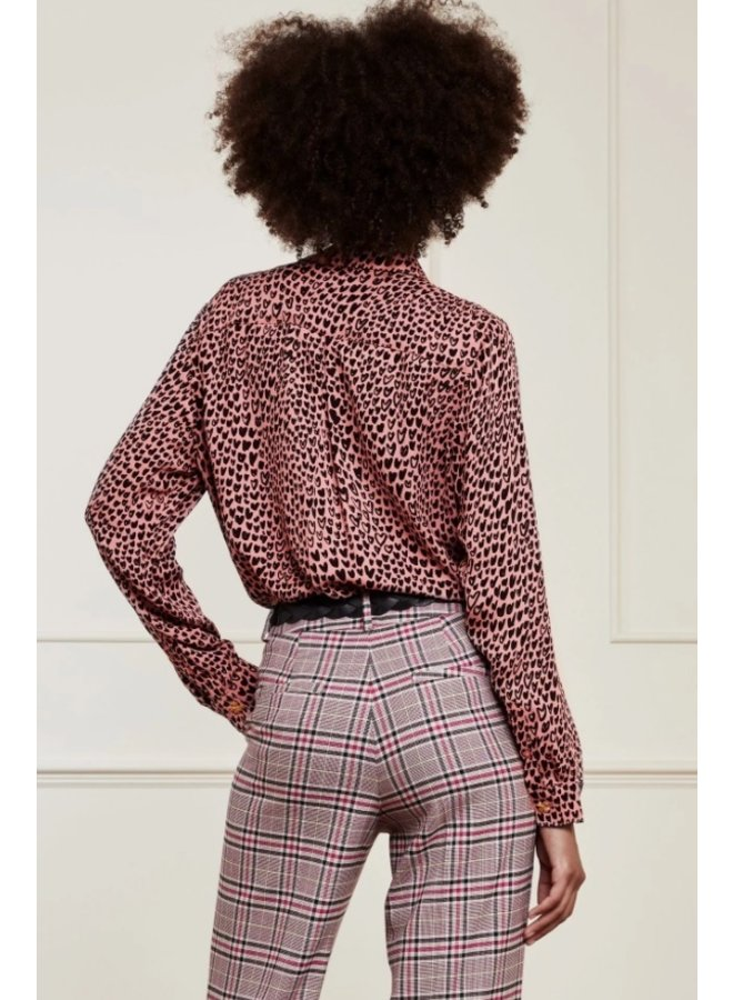 Lily Button Up Blouse Lovely Pink/Black Lovely Love Pink - Fabienne Chapot