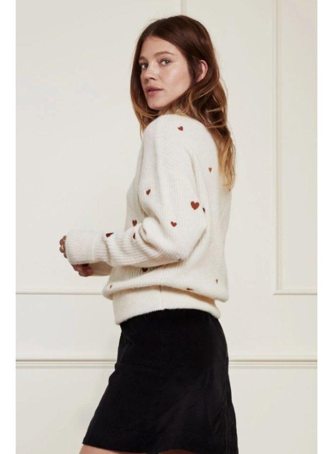 Oliviana Pullover Cream/ Cognac - Fabienne Chapot