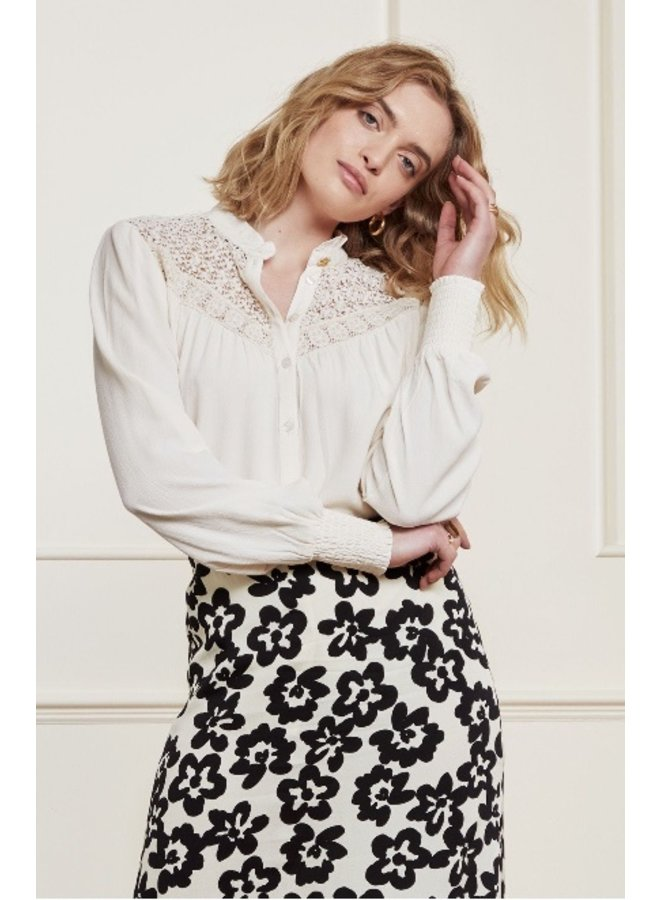 Lara Blouse Cream White UNI - Fabienne Chapot