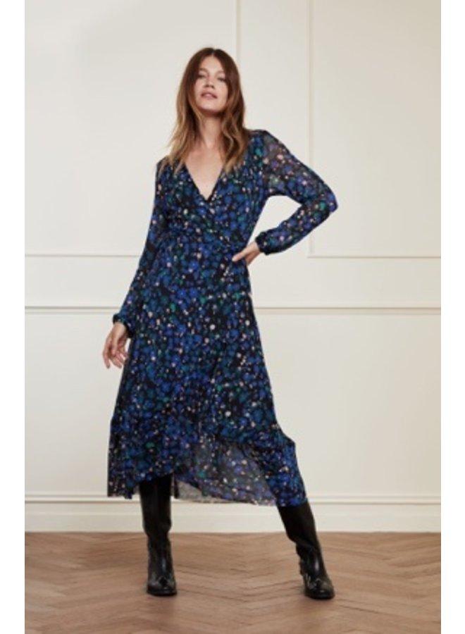 Natasja Frill Dress Black/Mint Underclover - Fabienne Chapot