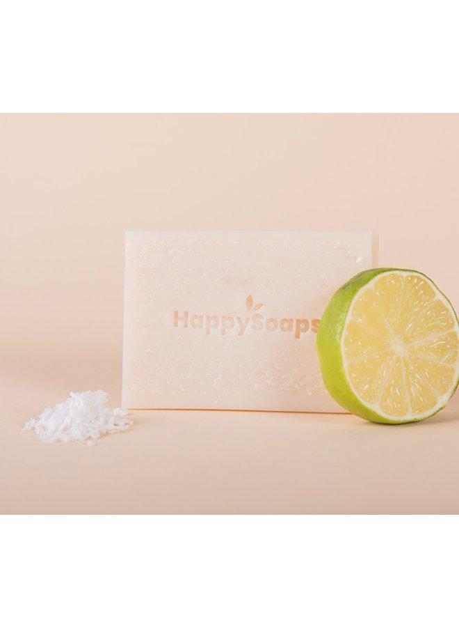 Body Wash Bar - Kokosolie en Limoen - Happy Soaps