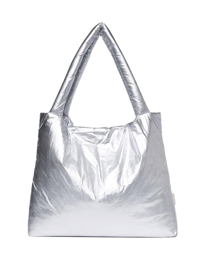 Silver puffy mom-bag- Studio NOOS