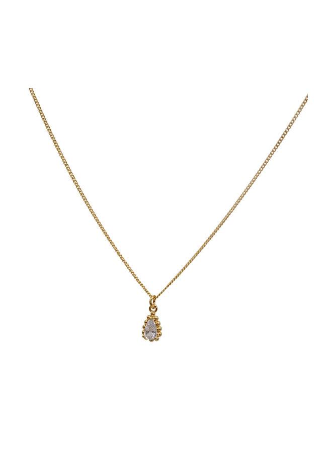 Zirconia drop necklace - A La Collection