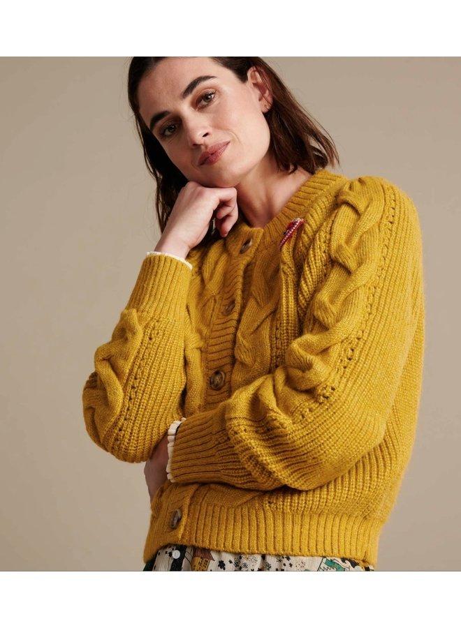 Cardigan Sophie Golden Amber - Pom Amsterdam