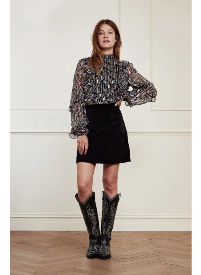 Victoria Solid Skirt Black - Fabienne Chapot