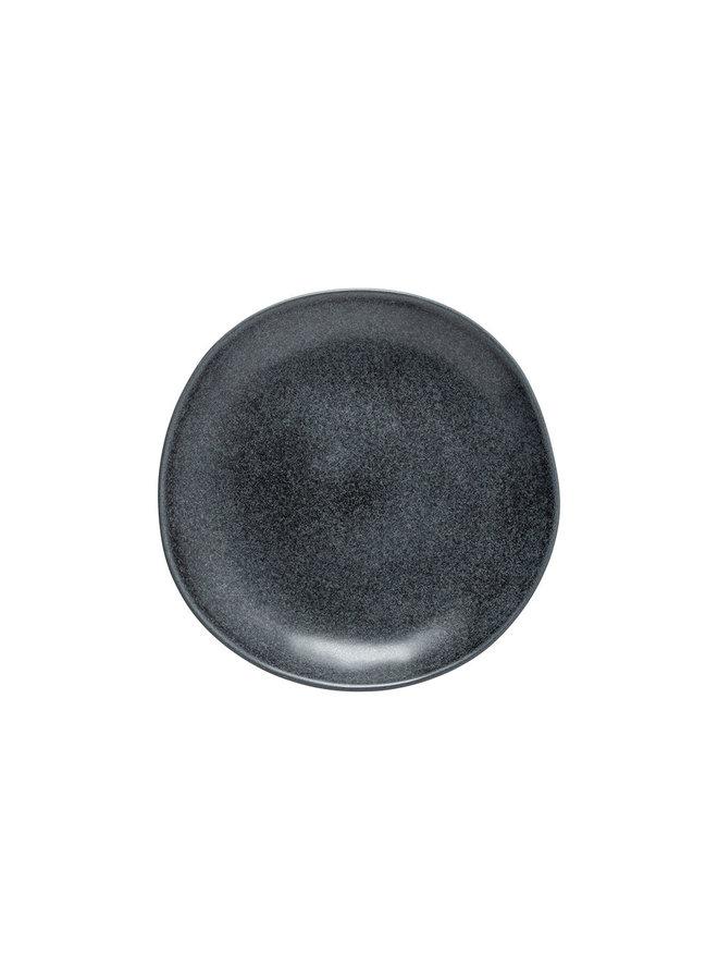Ontbijtbord Livia mat zwart