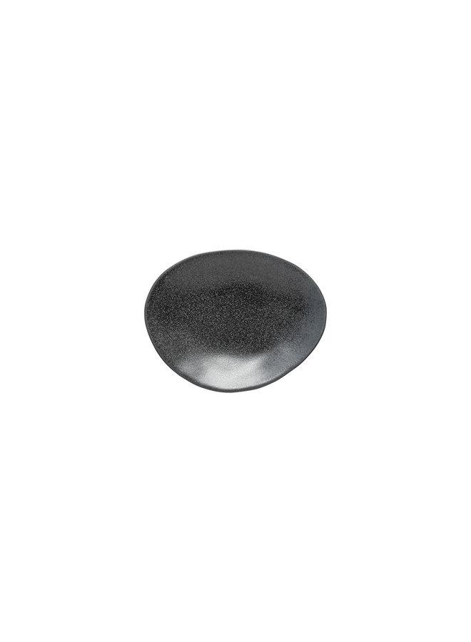 Ovaal bord 16 cm.  Livia mat zwart